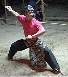 Pentjak silat from Indonesia
